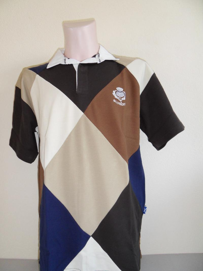 Scotland Diamond Brown Rugby