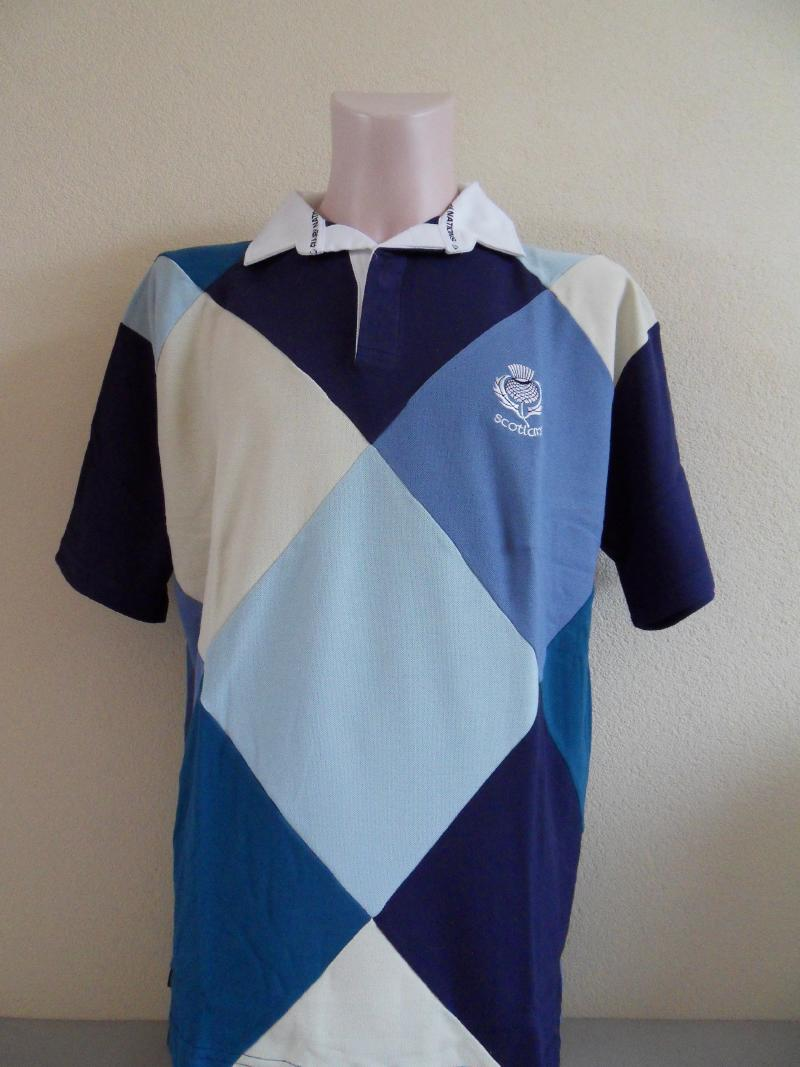 Scotland Diamond Bleu Rugby